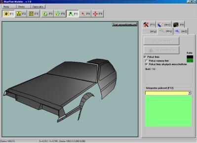 BluePrint Modelere - DeLorean - również model cieniowany, ale w bardziej stonowanym kolorze