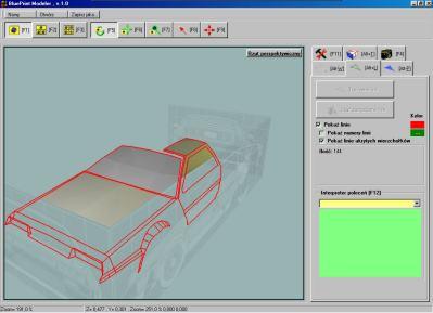 BluePrint Modelere - DeLorean - model z ustawionymi planami z włączoną przezroczystością