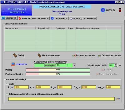 Osobny program do korekcji dystorsji sferycznej