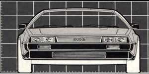DeLorean - rzut z przodu