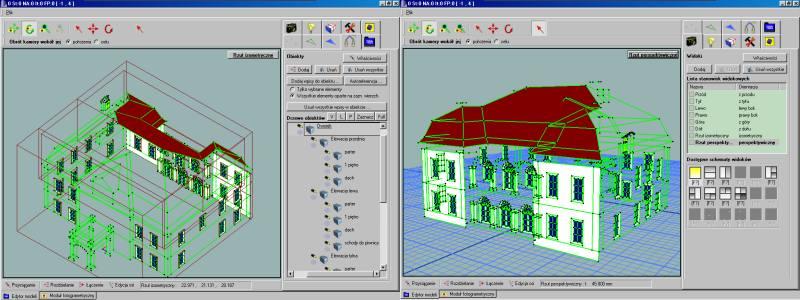 BluePrint Modeler - w trakcie rekonstrukcji dworku