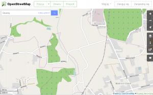 Mapa projektu OpenStreetMap dla wybranego punktu z aplikacji RaportyGPS