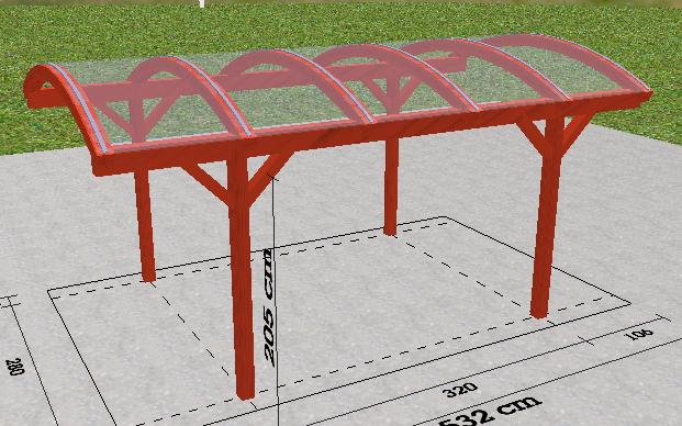 carport-czerwony